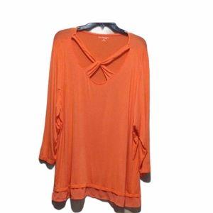 Kim Rogers Plus Size 2X Long Sleeve Top EUC